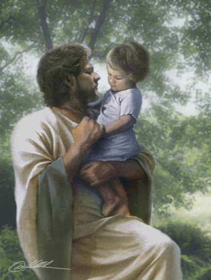 Jesus y un niño