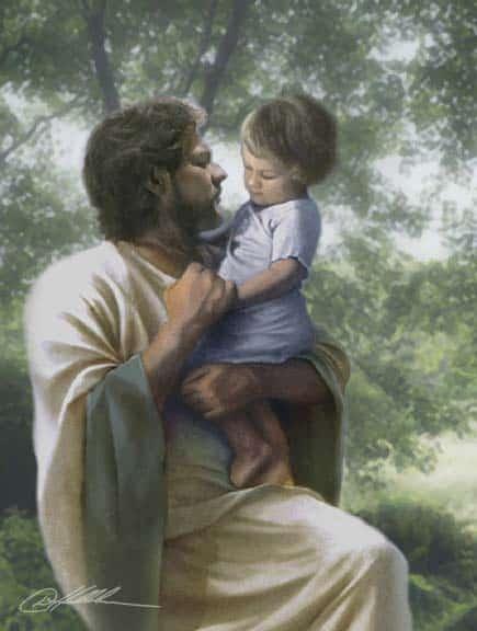 Jesus y un ni o Holograma de Amor: Enamorándose de Sí Mismos
