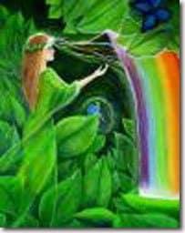 Angel y Arco Iris
