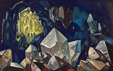 Reunion en la caverna de los cristales