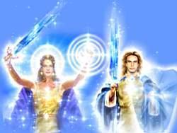 Diosa Astrea y Arcangel Miguel