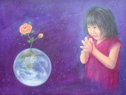 Ni a rezando a GAIA EL DECRETO DE LA ABUNDANCIA, por Maureen Moss