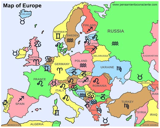 Identidades Nacionales - zodiaco europa
