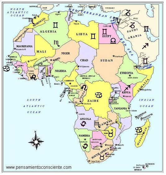 Identidades Nacionales - zodiaco africa