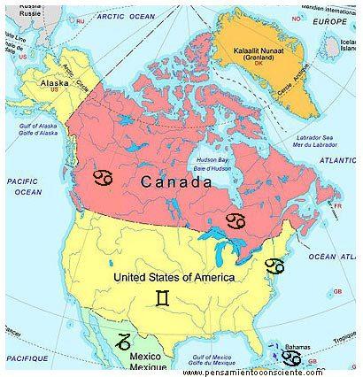 Identidades Nacionales - zodiaco america del norte