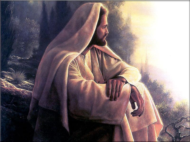 El Maestro Jesus meditando