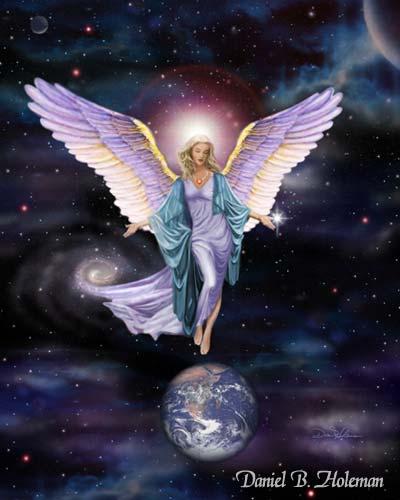 Angel protegiendo la tierra