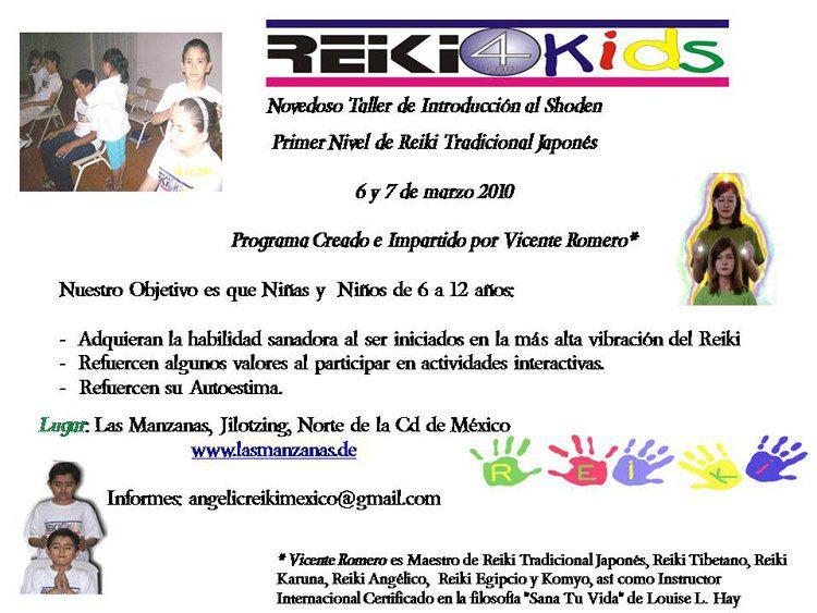 Reiki para ni os Reiki para Niños 6 y 7 de Marzo 2010 Ciudad de México, México