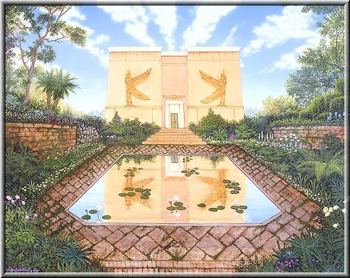 El templo egipcio del jardin