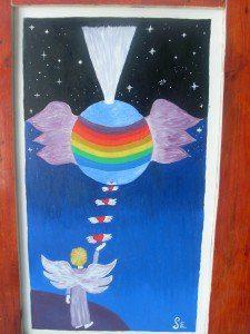 LLenando con las alas del Amor a gaia.