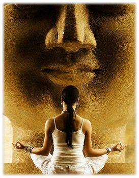 Meditando con Buddha