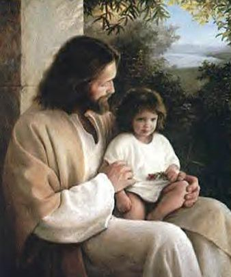 El Maestro Jesus con un niño