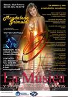 Magdalena Grimaldi Sanando a través de la Meditación y la Música. Lugar: Auditorio Colegio Gonzalo Méndez (Venezuela)