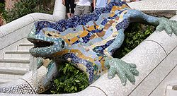 250 Px Reptil Parc Guell Barcelona