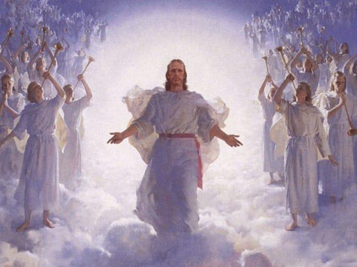 Jesús con los angeles