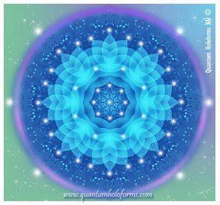 Mandala rayo azul- violeta