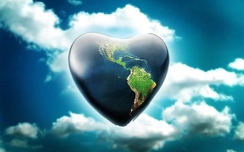 La tierra - un corazon de amor