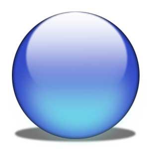 SOLIDOS PLATONICOS - Esfera azul 02