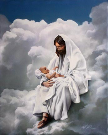 Maestro Jesus con recien nacido