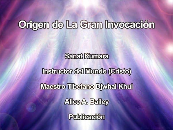 El origen de la gran invocación
