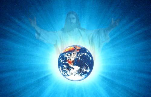 jesucrist i el món (blau)
