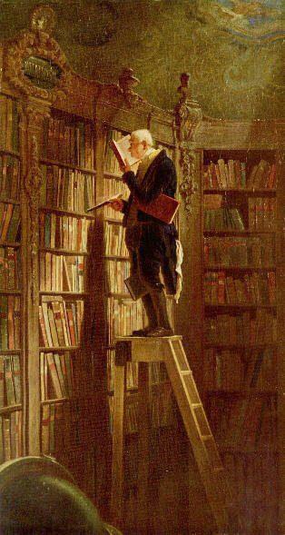 Bibliotecario buscando en su biblioteca - hermandad blanca - hermandadblanca.org