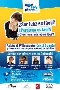 """1er. Encuentro """"Soy el Cambio"""" y descubra el camino para entender la Felicidad el 21 de abril en Colombia 1"""