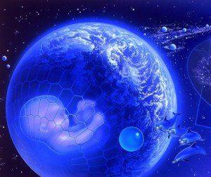 Tierra delfines bebe