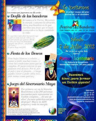 Festival de las Banderas en México DF hermandadblanca.org