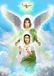 Arcangel Rafael y Madre Maria