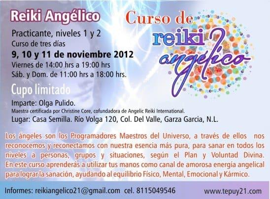 Curso de reiki angelico Olga hermandadblanca.org