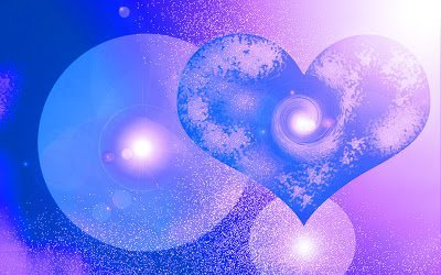 corazon lila