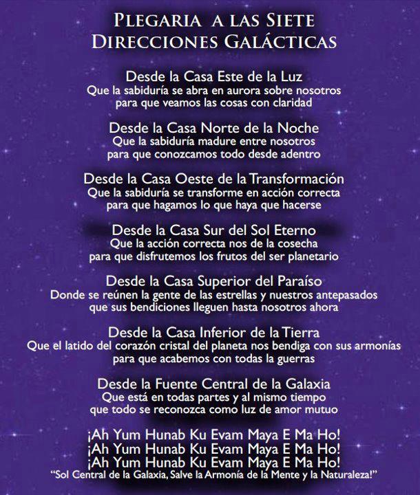 7 direcciones galacticas