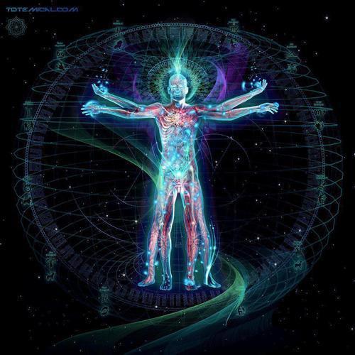 ser multidimensional rodeado de símbolos