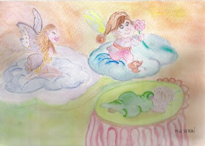angeles en flores por Maria Jesús Verdu