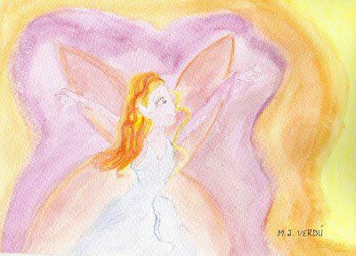 hada rosa volando del cuento la misión de las hadas