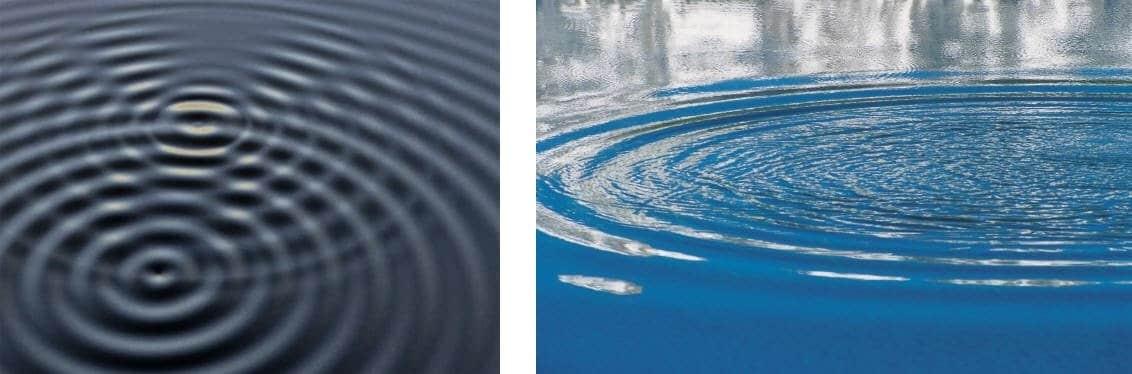 ondas del sonido en el agua