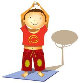 El gran árbol desafía la tempestad. Yoga para niños