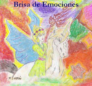 María Jesús Verdú brisa de emociones hada en unicornio fondo rojo pintura fantasía