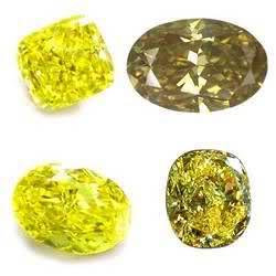 Diamante amarillo redondo