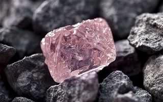 Diamante rosa bruto