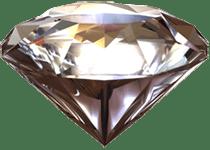 Diamante transparente