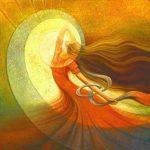 mujer-en-colores-rojos-y-aura-amarilla
