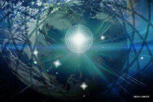 Gaia tierra planeta toroide energía flor de la vida esencia luz