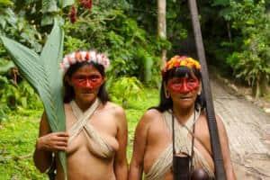 Mujeres india cutegenas de la Amazonia