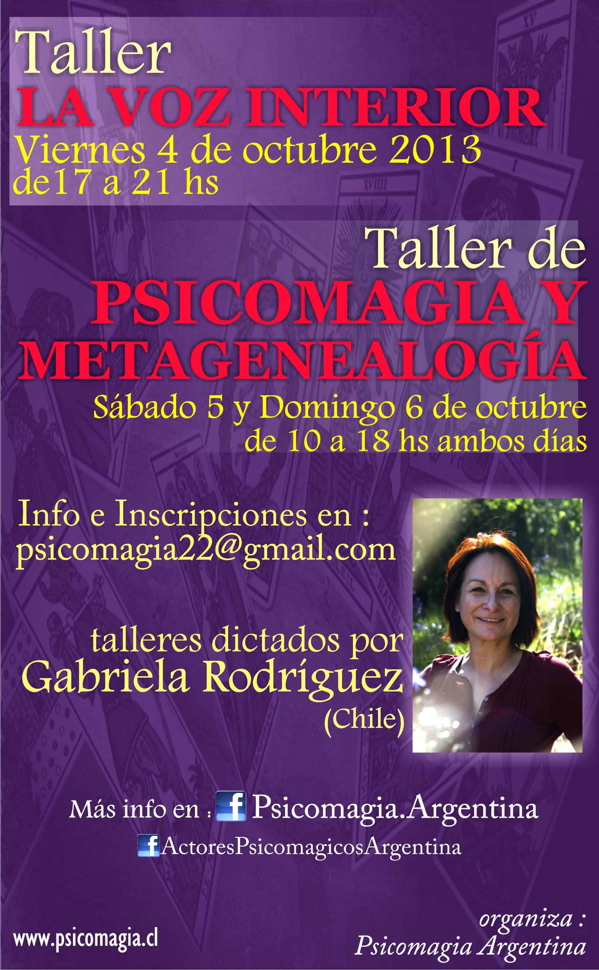 TALLERES OCTUBRE 2013 PSICOMAGIA