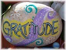 Piedra de gratitud
