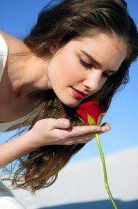 olor de una rosa