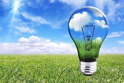 eficiencia energetica- bombilla en el cesped