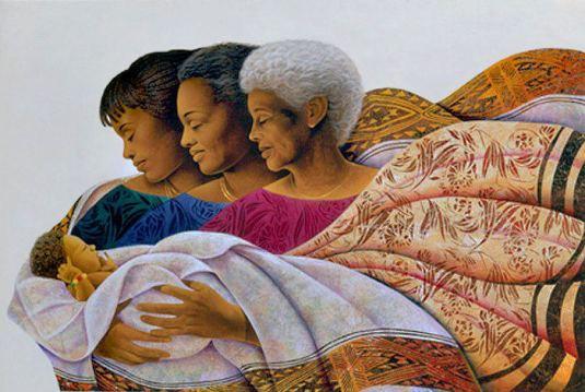 madres sosteniendo a un bebe